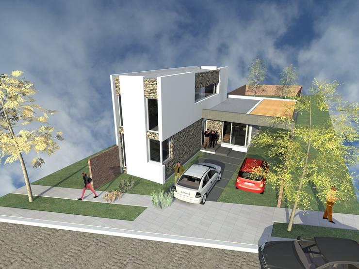 Segunda etapa - Vista aerea: Casas unifamiliares de estilo  por Arquitecto Pablo Briguglio