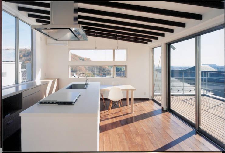 ダイニングよりルーフテラスを見る: 豊田空間デザイン室 一級建築士事務所が手掛けたダイニングです。