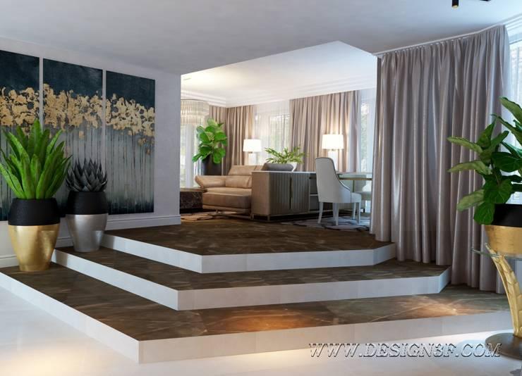 Интерьер гостиной ар-деко: Гостиная в . Автор – студия Design3F, Эклектичный