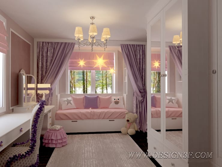 Chambre d'enfant de style  par студия Design3F, Classique