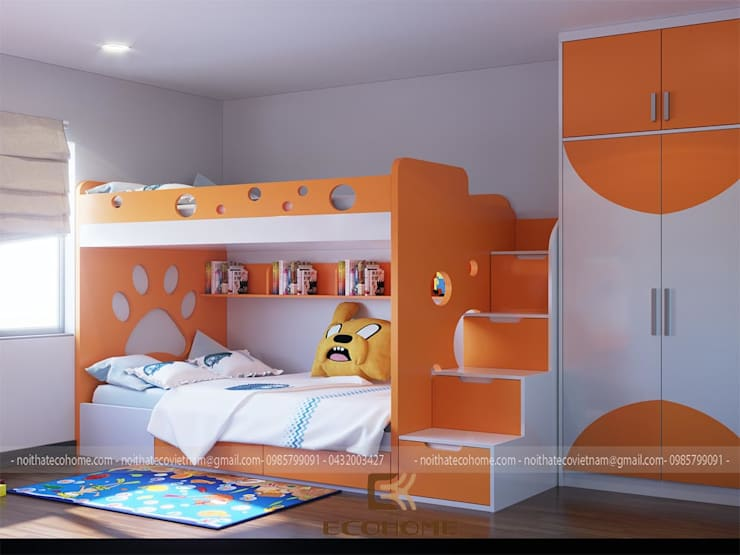 Phòng ngủ con 2:  Phòng ngủ by Công Ty TNHH Xây Dựng & Nội Thất ECO Việt Nam