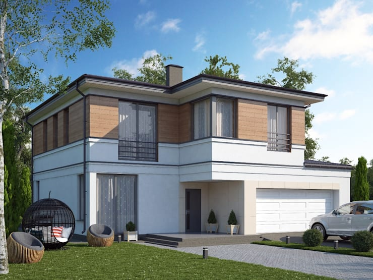 Casas de estilo  por Vesco Construction