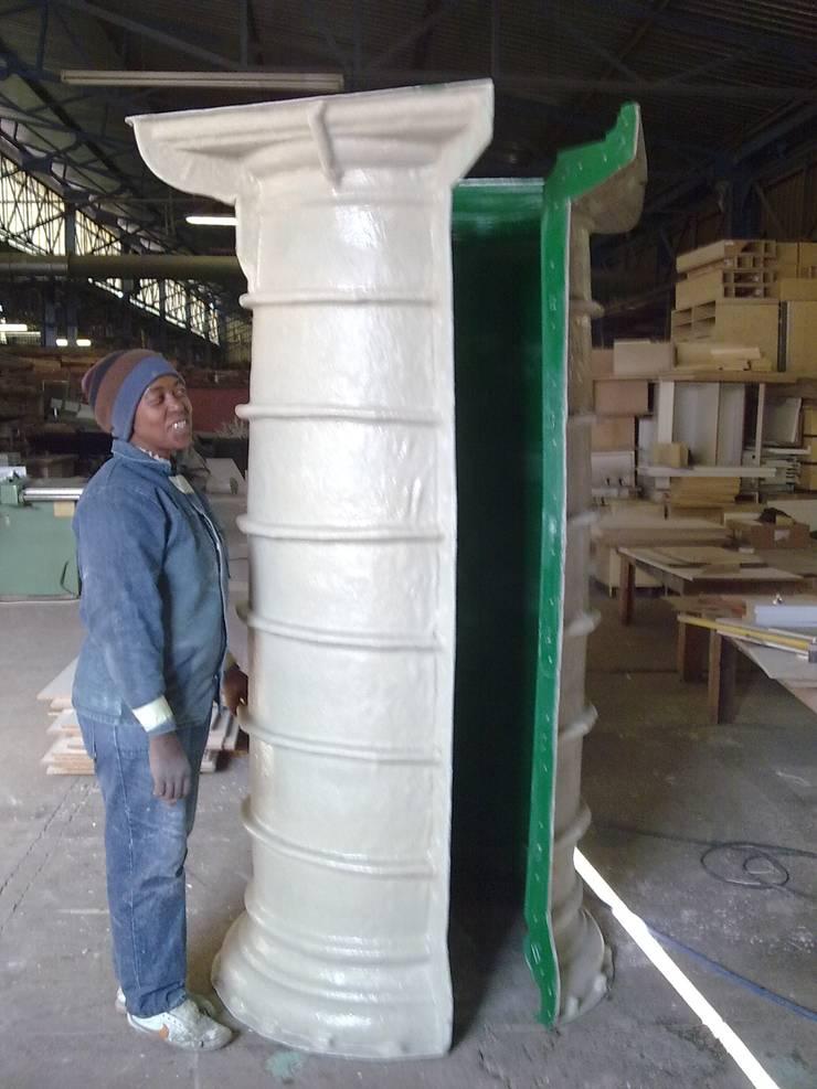 Fibreglass mould, column mould:  Multi-Family house by Buildart - Fibreglass Specialists