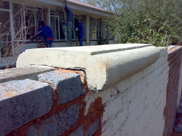 Wall Coping:  Walls by Buildart - Fibreglass Specialists