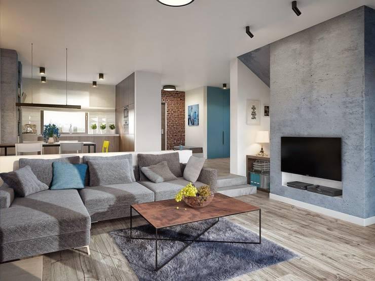Sala con televisión estilo moderno: Salas de estilo  por Carolina Torres Arzamendi