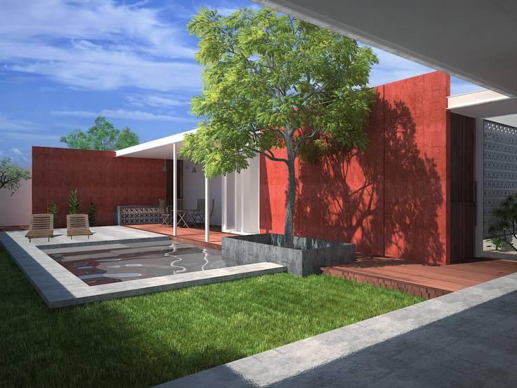 Piscinas de estilo  por Pangea Arquitectura & diseño
