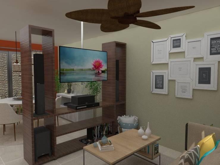 Sala vista TV:  de estilo  por 78metrosCuadrados