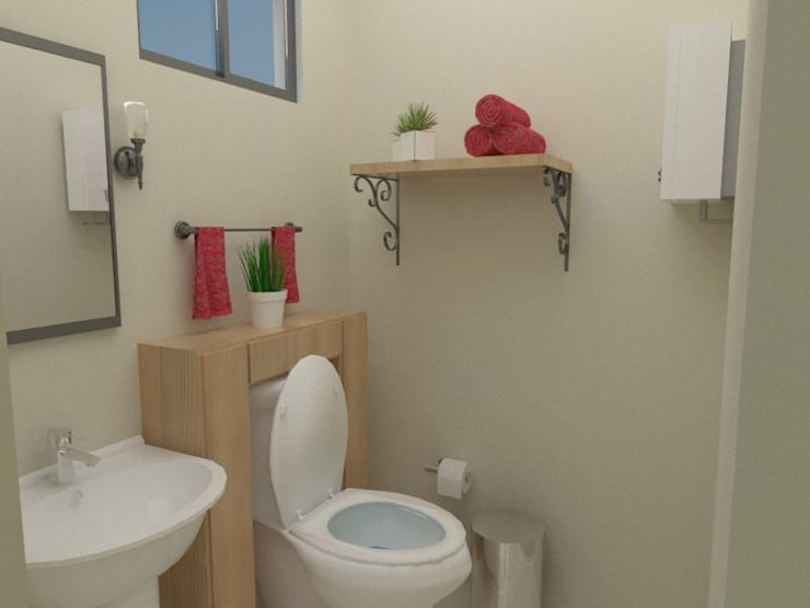 Baño PB:  de estilo  por 78metrosCuadrados