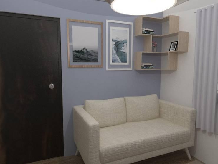 Recámara de visitas vista sofá:  de estilo  por 78metrosCuadrados