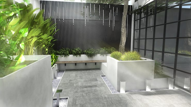 ANHSAO Showroom lighting:  Dining room by MEG Design Studio