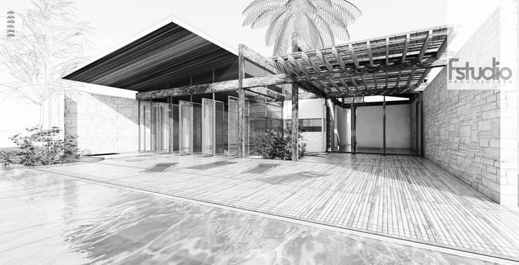 CASA GUASACATE: Casas de madera de estilo  por Fstudio Arquitectura