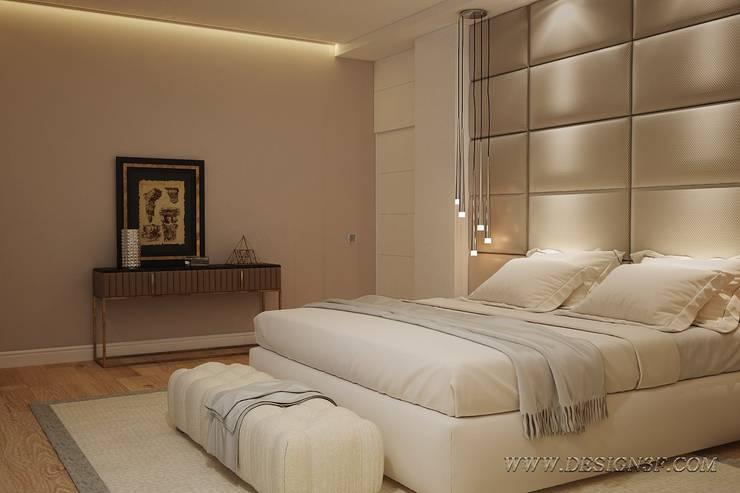 Большая светлая спальня: Спальни в . Автор – студия Design3F, Модерн