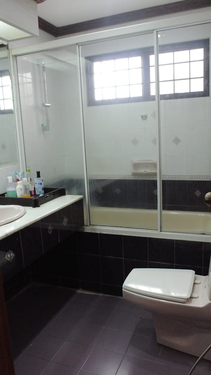 Before renovation of house: modern Bathroom by FINE ART LIVING PTE LTD