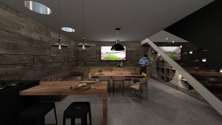 Casa C+S: Bodegas de estilo  por D'ODORICO OFICINA DE ARQUITECTURA