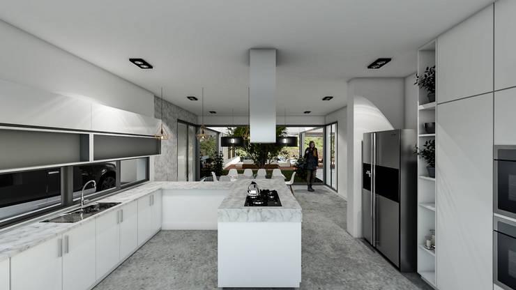 Casa C+S: Cocinas de estilo  por D'ODORICO OFICINA DE ARQUITECTURA