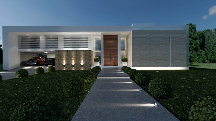 Casa C+S: Casas de estilo  por D'ODORICO OFICINA DE ARQUITECTURA