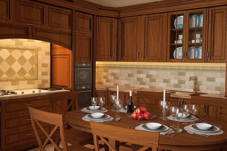 Кухня английский стиль: Кухни в . Автор – студия Design3F, Классический