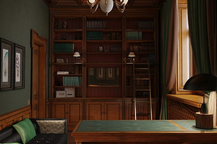 Study/office by студия Design3F, Classic