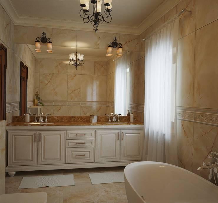 Большая ванная комната: Ванные комнаты в . Автор – студия Design3F
