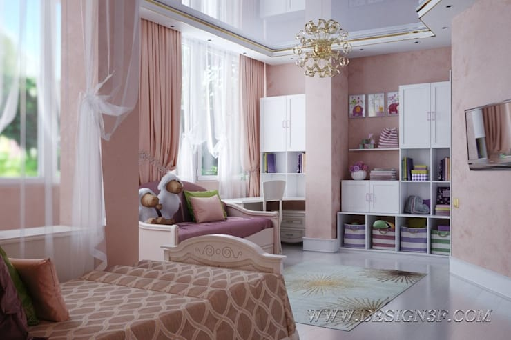 Chambre d'enfant originale par студия Design3F Éclectique