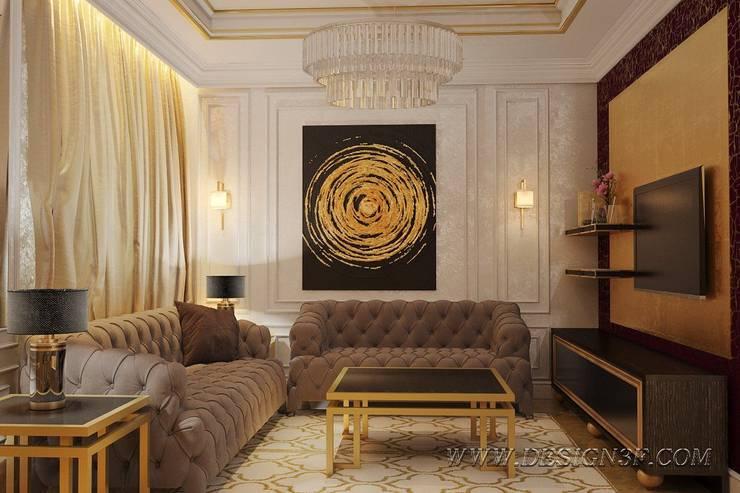 Интерьер гостиной в стиле ар-деко: Гостиная в . Автор – студия Design3F, Эклектичный