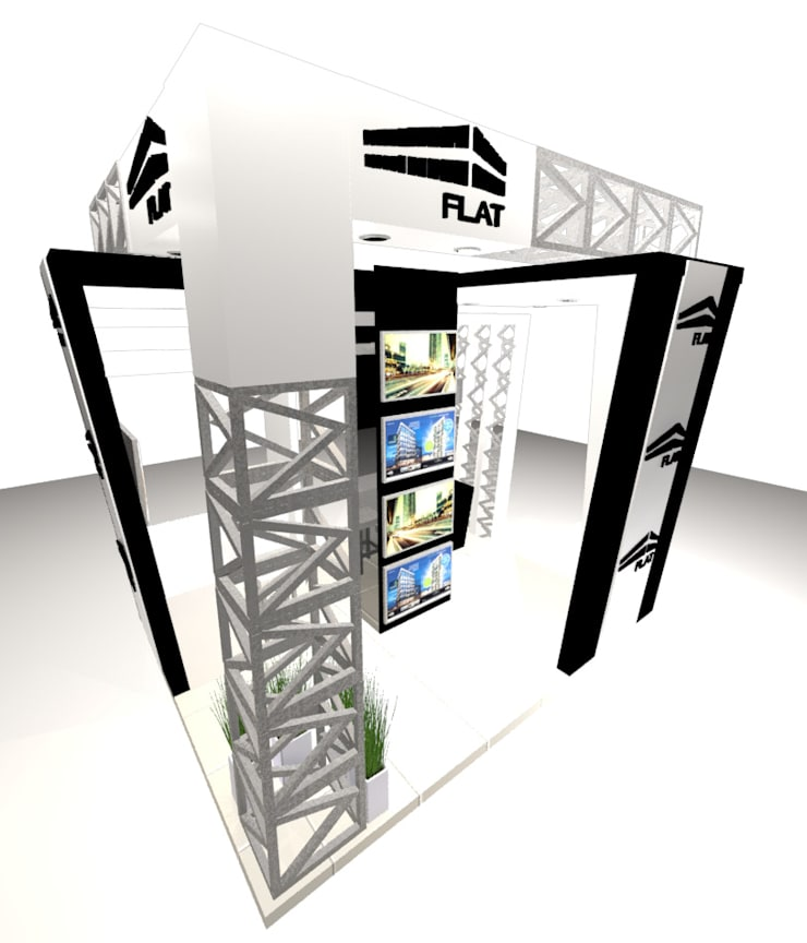 VISTA 1: Escaleras de estilo  por Karla Alvarez - Arquitectura de Interiores , Moderno Aglomerado