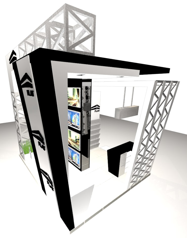 VISTA 2: Escaleras de estilo  por Karla Alvarez - Arquitectura de Interiores , Moderno Aglomerado