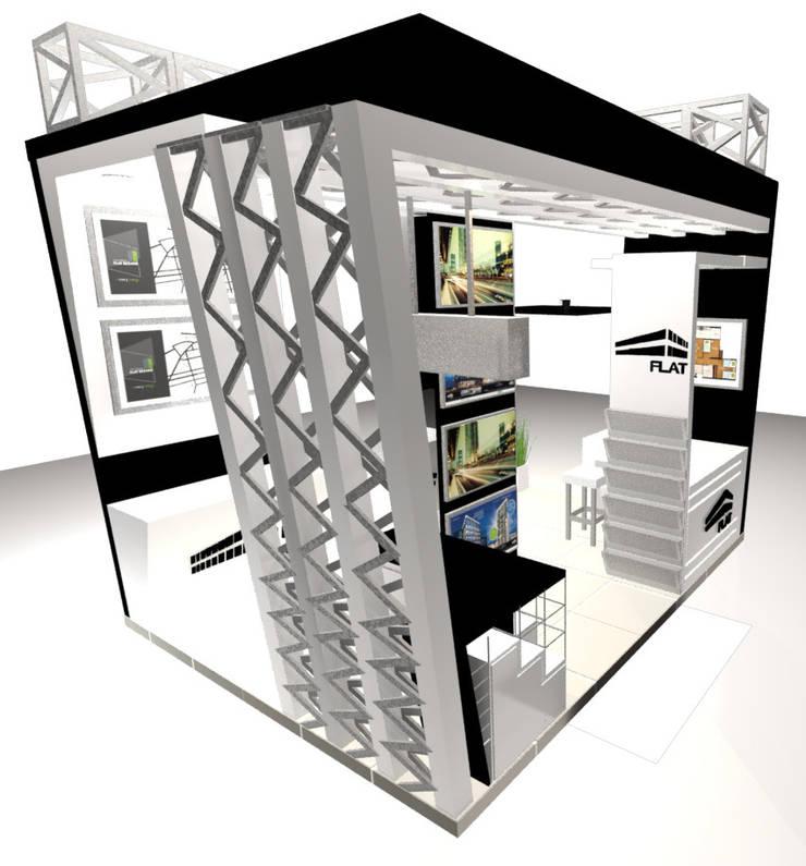 VISTA 3: Escaleras de estilo  por Karla Alvarez - Arquitectura de Interiores , Moderno Aglomerado