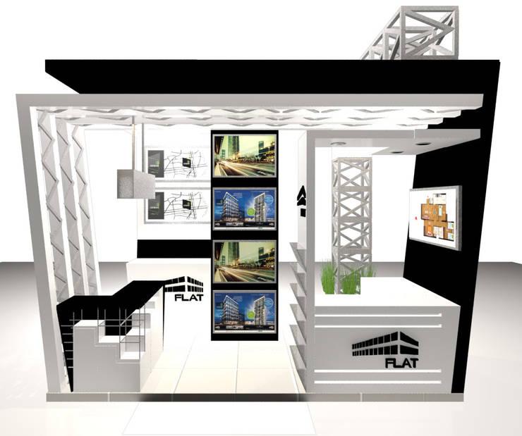 VISTA 4: Escaleras de estilo  por Karla Alvarez - Arquitectura de Interiores , Moderno Aglomerado