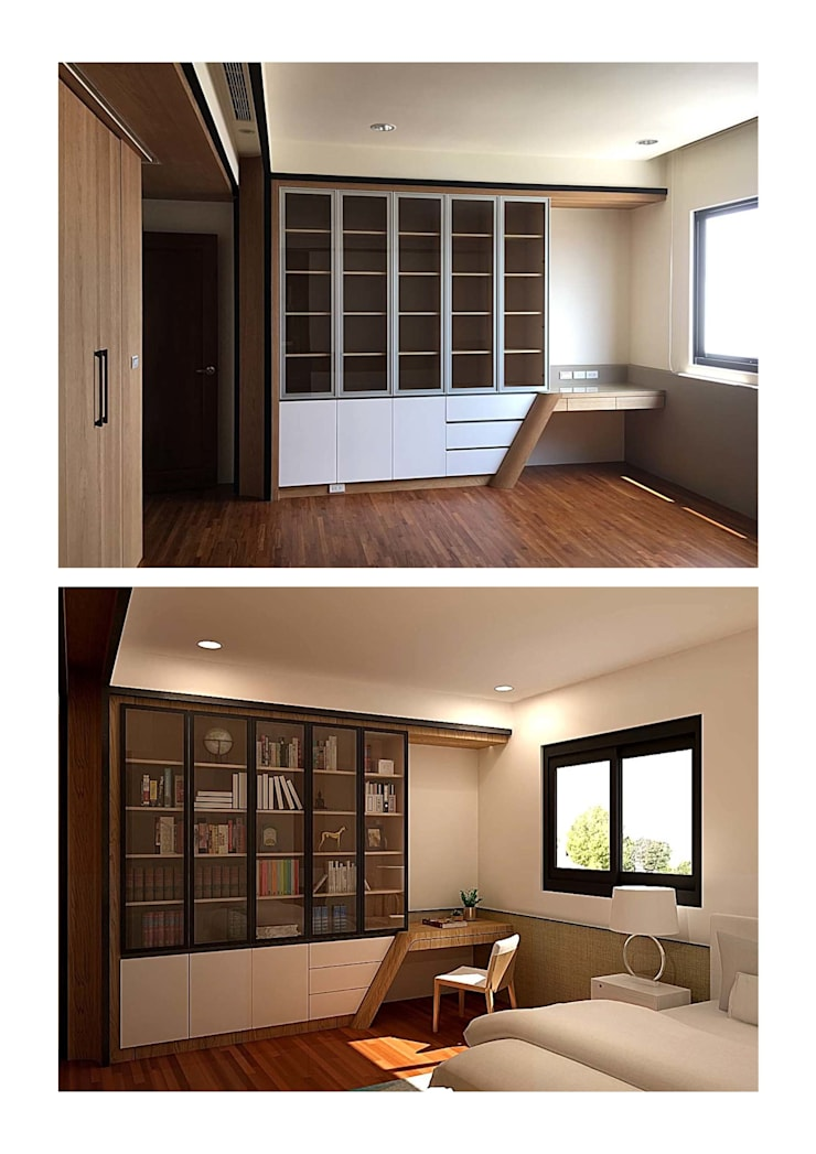 臥室裡的書房:   by houseda
