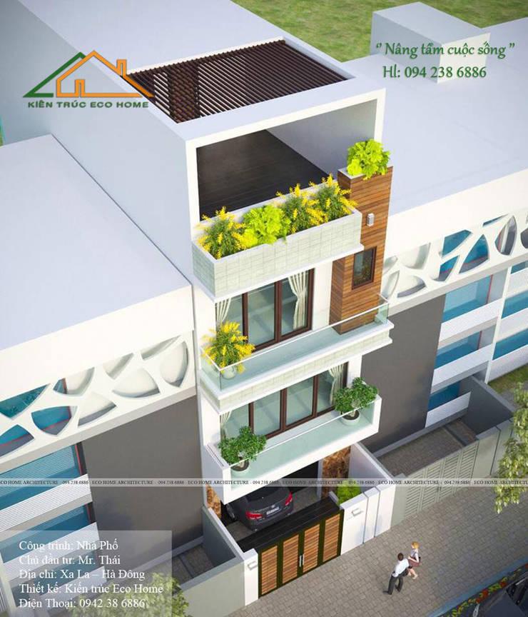 Nhà Phố hiện đại - Anh Thái:   by Công ty CP kiến trúc và xây dựng Eco Home