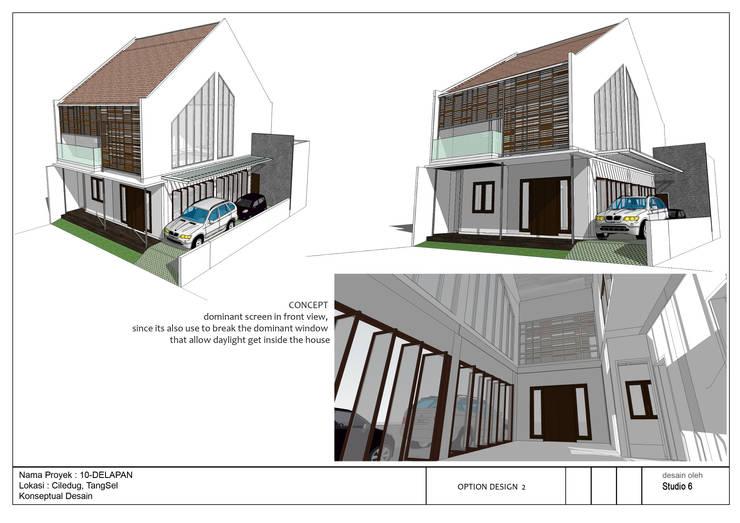 Fasade Rumah 10Delapan:   by jaas.design