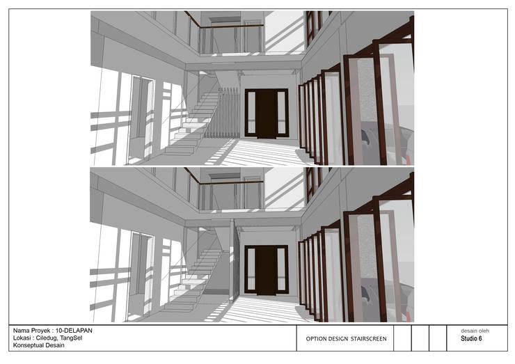Interior view Rumah 10Delapan:  Ruang Keluarga by jaas.design