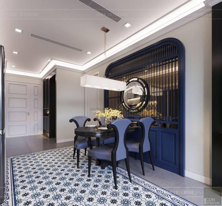 THIẾT KẾ INDOCHINE TRONG CĂN HỘ VINHOMES GOLDEN RIVER:  Phòng ăn by ICON INTERIOR