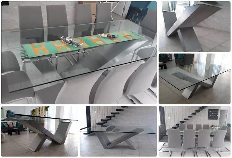 MESA DE DISEÑO ORIGINAL PARA 10 PERSONAS: Arte de estilo  por M.i. arquitectura & construcción