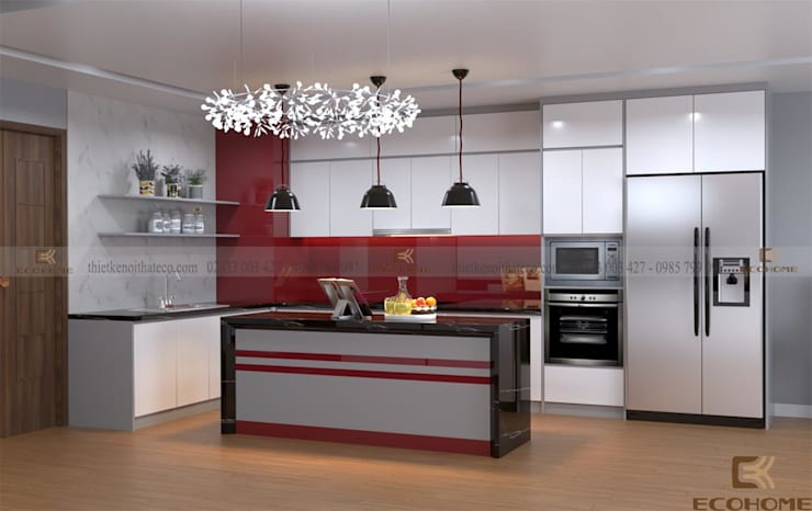 Cucina in stile  di Công Ty TNHH Xây Dựng & Nội Thất ECO Việt Nam, Moderno