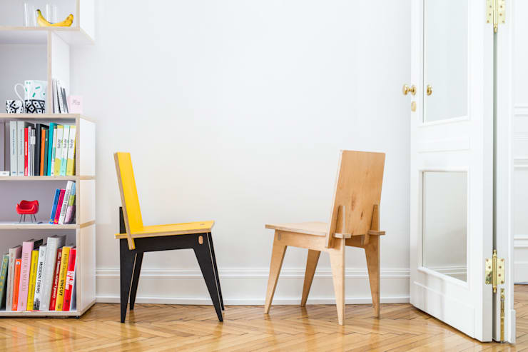 Krzesło Klinowe: styl , w kategorii Jadalnia zaprojektowany przez Robert Pludra Industrial Design Studio