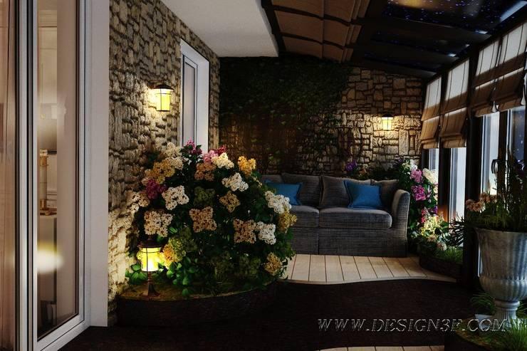 Зимний сад на лоджии: Зимние сады в . Автор – студия Design3F, Тропический