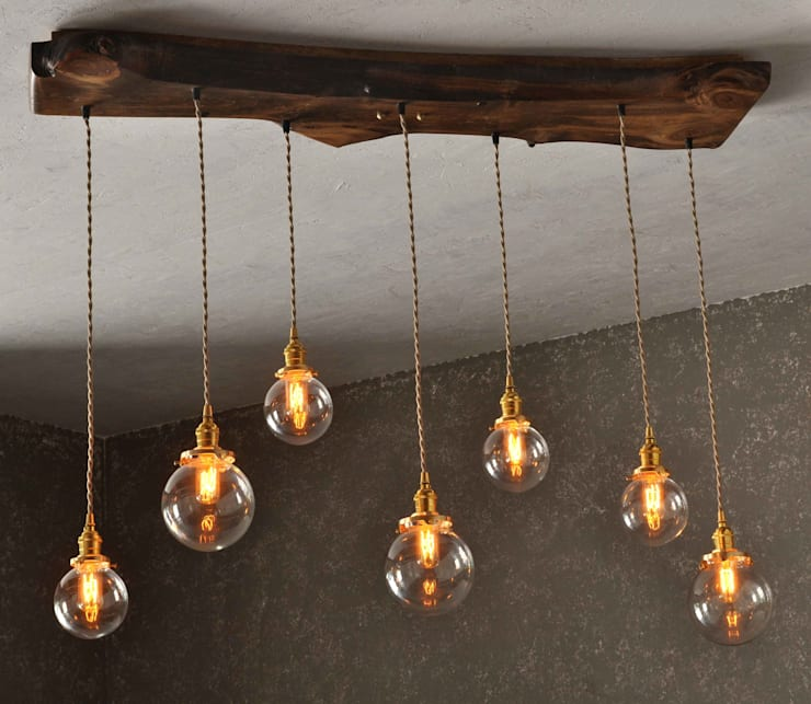 The Sur Live Edge Wood Chandelier By Moonshine Lamp Co