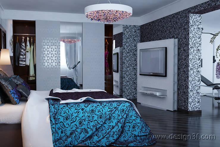 Bedroom by студия Design3F, Modern