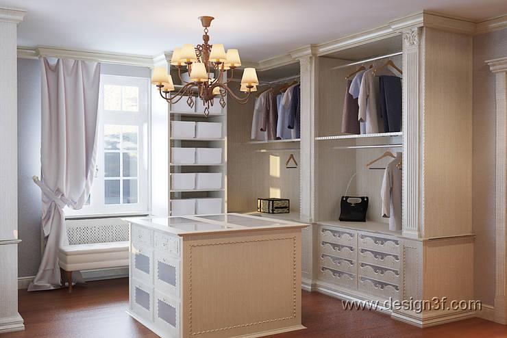 Гардеробная комната классический стиль: Гардеробные в . Автор – студия Design3F, Классический
