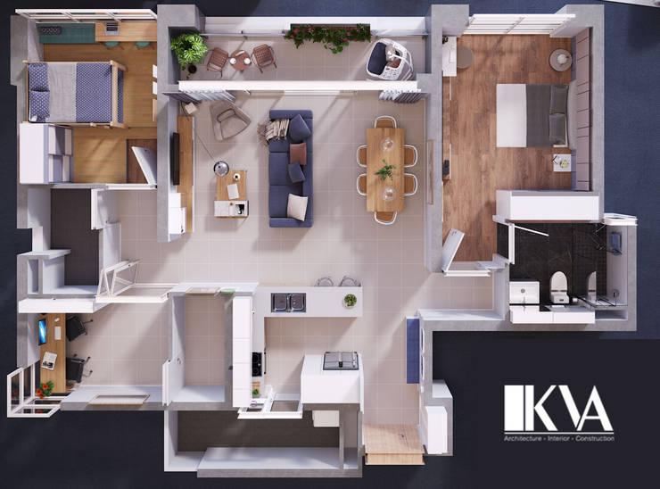 INTERIOR_APARTMENT ESTELLA:  Spa by KV Architecture