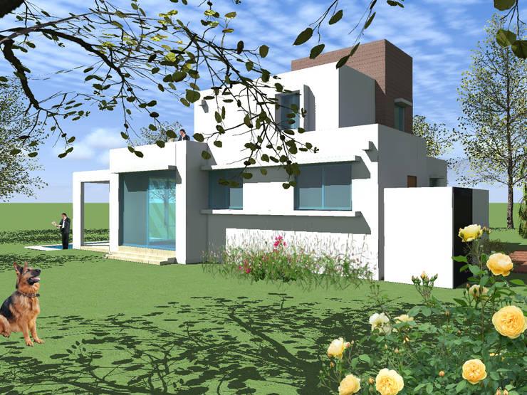 CASA OMER: Casas unifamiliares de estilo  por AOG