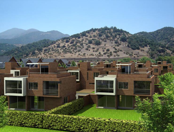 CONDOMINIO LO BARNECHEA: Condominios de estilo  por AOG