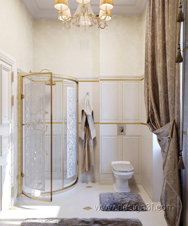 Роскошная ванная комната: Ванные комнаты в . Автор – студия Design3F, Классический