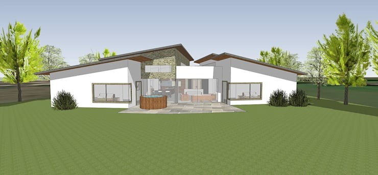 Fachada Norte: Casas unifamiliares de estilo  por ARquitectura