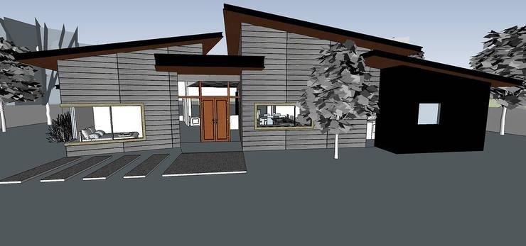 Acceso Principal Render: Casas unifamiliares de estilo  por ARquitectura