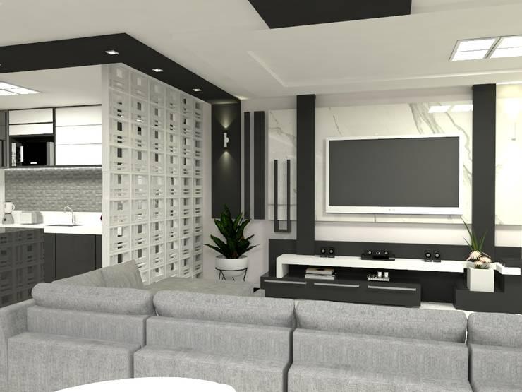 现代客厅設計點子、靈感 & 圖片 根據 Multiplanos Arquitetura 現代風