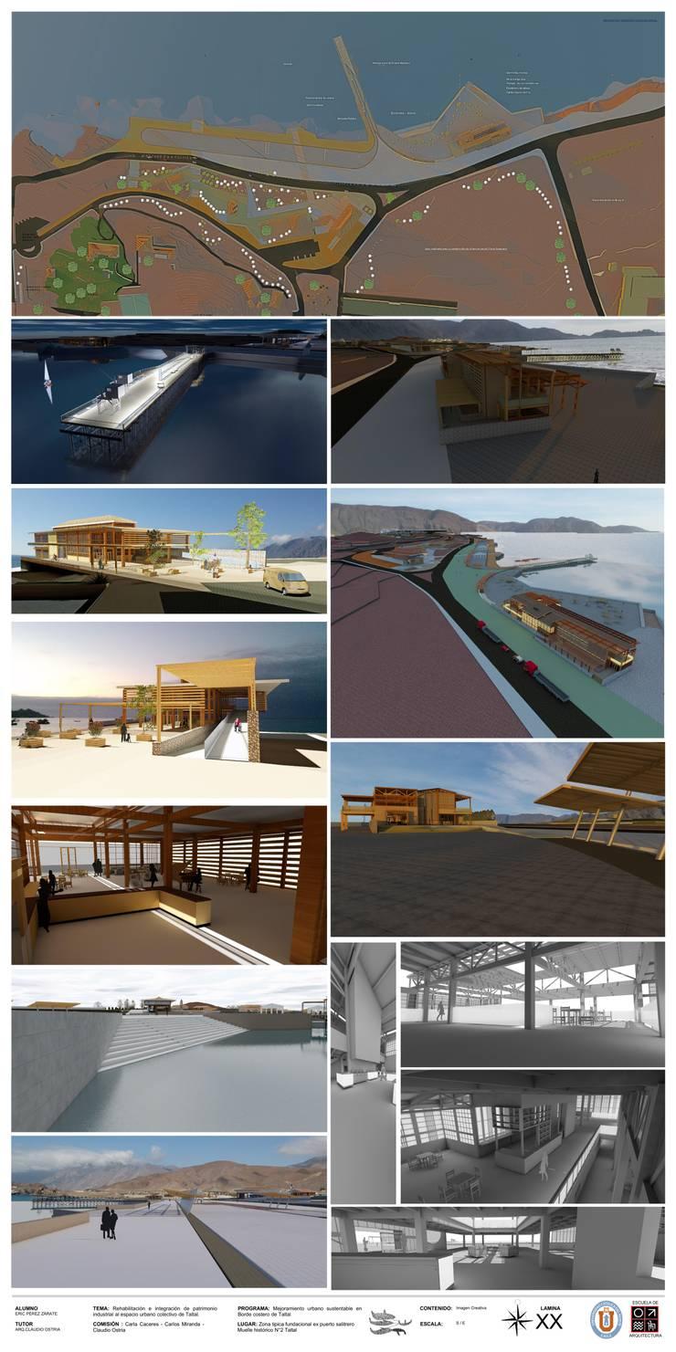 Parque sustentable de borde costero en Taltal : Casas de estilo  por Arqui Bim Integra