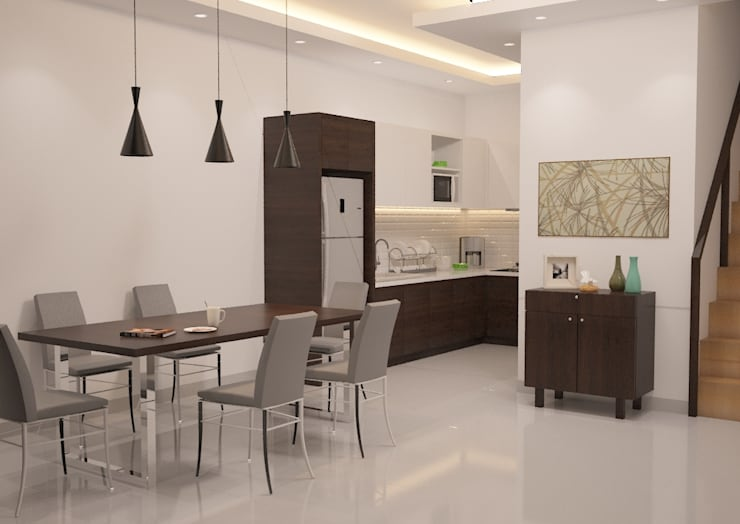 Minimalist Home Project for Mr. R:  Kitchen by Ruang Sketsa